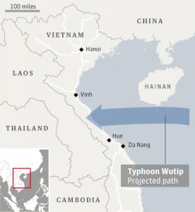 Тайфун Wutip (Вутип)